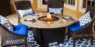 Gas Fire Pit Table And Chairs The Naples Fire Pit Table Firetainment