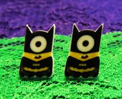 minion earrings minion inspired batman minion stud earrings despicable me