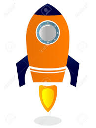 stylized rocket ship royalty free cliparts vectors and stock