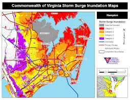 Map Of Hamptons New York by Hurricane Storm Surge Maps Virginia Department Of Emergency