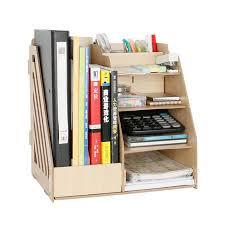 bureau diy 1 set diy color wood document trays desk accessories