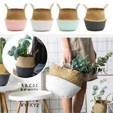 baskets for home decor large foldable belly basket seagrass home decor nursery planting pot