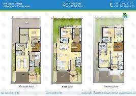 buy townhouse 4 bedrooms al forsan village khalifa city a