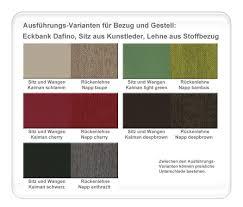 Esszimmer Eckbank Kunstleder Eckbank Dafino Varianten Materialmix Kunstleder Stoff Polsterbank
