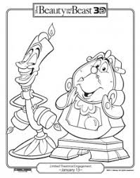 free printable beauty and the beast coloring pages she scribes