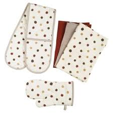 buy tesco terracotta spot kitchen textiles set from our tea towels
