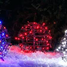 outdoor christmas light balls outdoor hanging lighted christmas balls colorsbyyou me