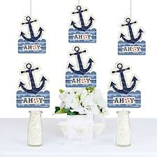anchor theme baby shower ahoy nautical baby shower decorations theme babyshowerstuff