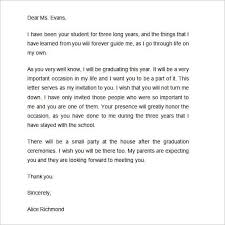 graduation ceremony invitation letter letter idea 2018