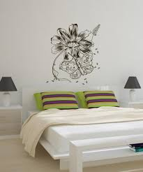 nature wall decals nature stickers for walls stickerbrand vinyl wall decal sticker butterfly and flower 1068