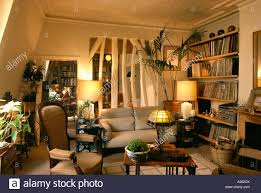 Cosy Lighted Lamps In Cosy Apartment Living Room With Plaster Removed