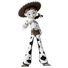 revoltech toy story woody jessie black white versions