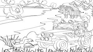 safari jeep coloring page 99 ideas safari animals coloring pages on www gerardduchemann com