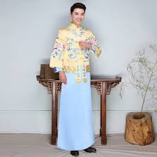traditional chinese oriental dresses embroidery cheongsam men