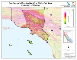 Los Angeles County Map by The Great California Shakeout Southern California Coast Area