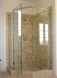 Shower Stalls With Glass Doors Corner Shower Stall For Small Bathroom Features Swinging Glass