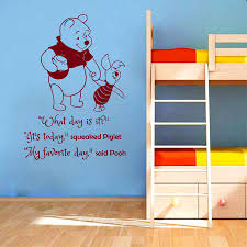 popular nursery wall murals buy cheap nursery wall murals lots cartoon winnie the pooh book quotes wall sticker what day is it saying wall sticker kids