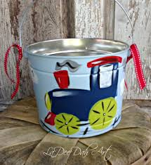painted easter buckets easter personalized painted tin pail easter