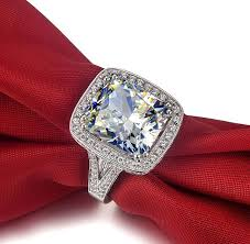 aliexpress buy anniversary 18k white gold filled 4 aliexpress buy royal fantastic 8 carat solid 18k white