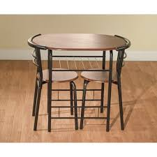 Space Saver Dining Table Sets 3 Bistro Set Table 2 Chairs Dinette Black Space Saver Dining