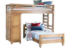 creekside taffy twin twin student loft bed with chest bunk loft