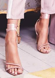 ribbon heels pink satin ribbon tie high heels empire