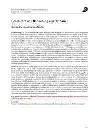 B Otisch Modern Geschichte Und Bedeutung Von Herbarien Pdf Download Available