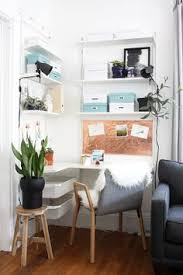in my own little corner office leaning desk maximize space