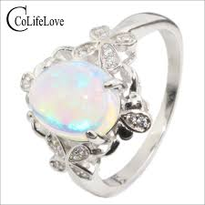 natural opal rings images Vintage sterling silver opal ring for woman 8 mm 10 mm natural jpg
