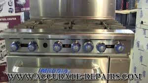 imperial convection oven pilot light imperial ir6 gas commercial range youtube