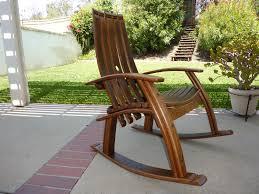 Designer Wooden Rocking Chairs Wine Barrel Rocking Chair 1 250 00 Via Etsy Woodshop