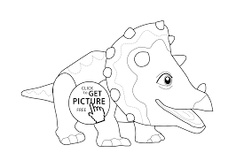 dinosaur coloring page for kids printable free cute dinosaur