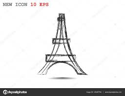 eiffel tower sketch icon u2014 stock vector lovart 149467794
