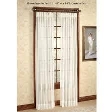 Decorative Functional Traverse Curtain Rods by Splendor Semi Sheer Pinch Pleat Drapery Curtain Pair