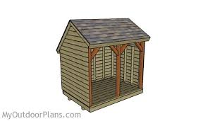 Plans For Building A Firewood Shed by Saltbox Firewood Shed Plans Myoutdoorplans Free Woodworking