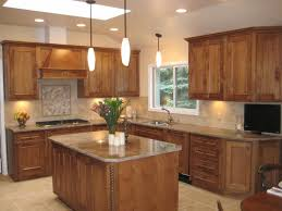 kitchen style natural finishes two tone kitchen cabinets in