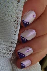 simple purple and shimmery white nail art by pttcrab on deviantart