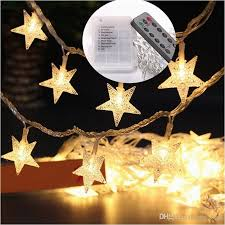 battery operated star lights battery operated outdoor decorative lights beautiful 5m 40led star