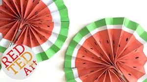paper fans easy origami paper fan watermelon diy