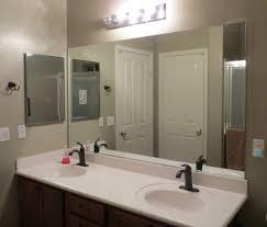 bathroom cheap frameless large bathroom mirror with light bulbs