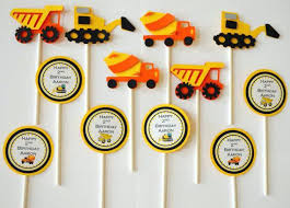 construction cake toppers construction cake topper set cupcake wrappers of ideas for baby
