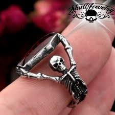 coffin ring skeleton pallbearers with coffin ring 526 skulljewelry