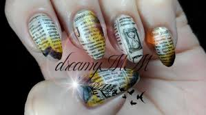 moyra retro plate burned newspaper stamping nail art youtube