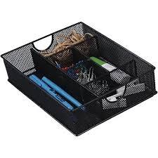 Desk Set Organizer Quill Brand Black Mesh Drawer Organizer Quill
