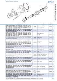 ford rear axle page 249 sparex parts lists u0026 diagrams