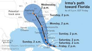 Jacksonville Florida Map Danger Lingers In Florida As Irma Moves Into Georgia