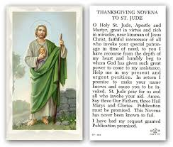 thanksgiving novena to st jude prayer holy card paper 100 st
