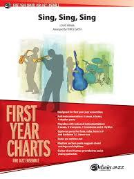 sing sing sing with a swing louis prima sing sing sing jazz ensemble conductor score parts louis prima