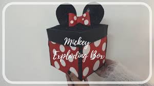 pop up exploding box mickey mouse theme card ideas best card