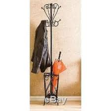 coat rack umbrella stand holder vintage hat jacket metal tree 8 hooks